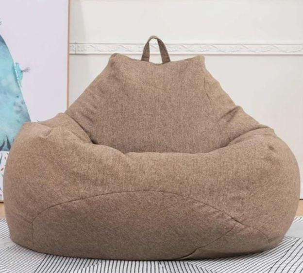 Comfortable Soft Giant Bean Bag Chair Giant Bean Bag Chair liu 0910 Brown S
