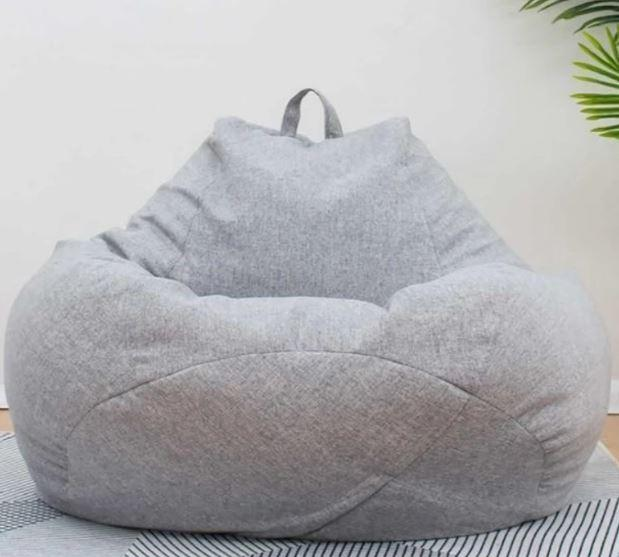 Comfortable Soft Giant Bean Bag Chair Giant Bean Bag Chair liu 0910 Light Grey S