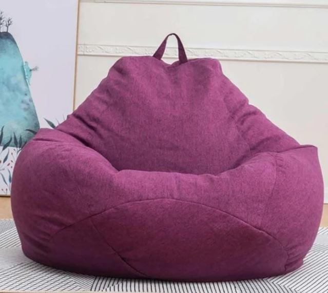 Comfortable Soft Giant Bean Bag Chair Giant Bean Bag Chair liu 0910 Purple S