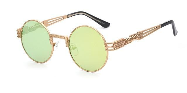 Gothic Steampunk Sunglasses AmericanGalore Gold with lemon