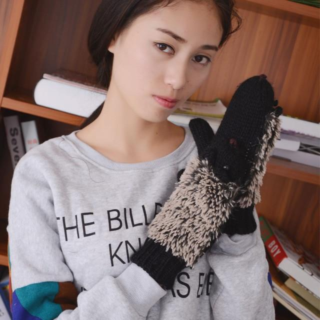 Hedgehog Mittens AmericanGalore Black One Size