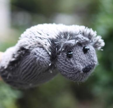 Hedgehog Mittens AmericanGalore Gray One Size