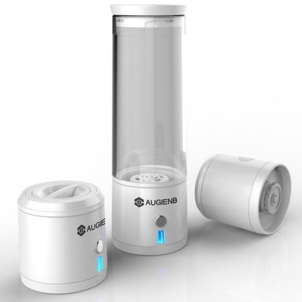 Hydrogen Water Bottle AmericanGalore White