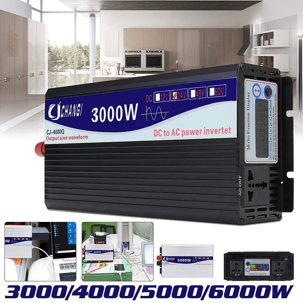 Intelligent Screen Pure Sine Wave Power Inverter AmericanGalore