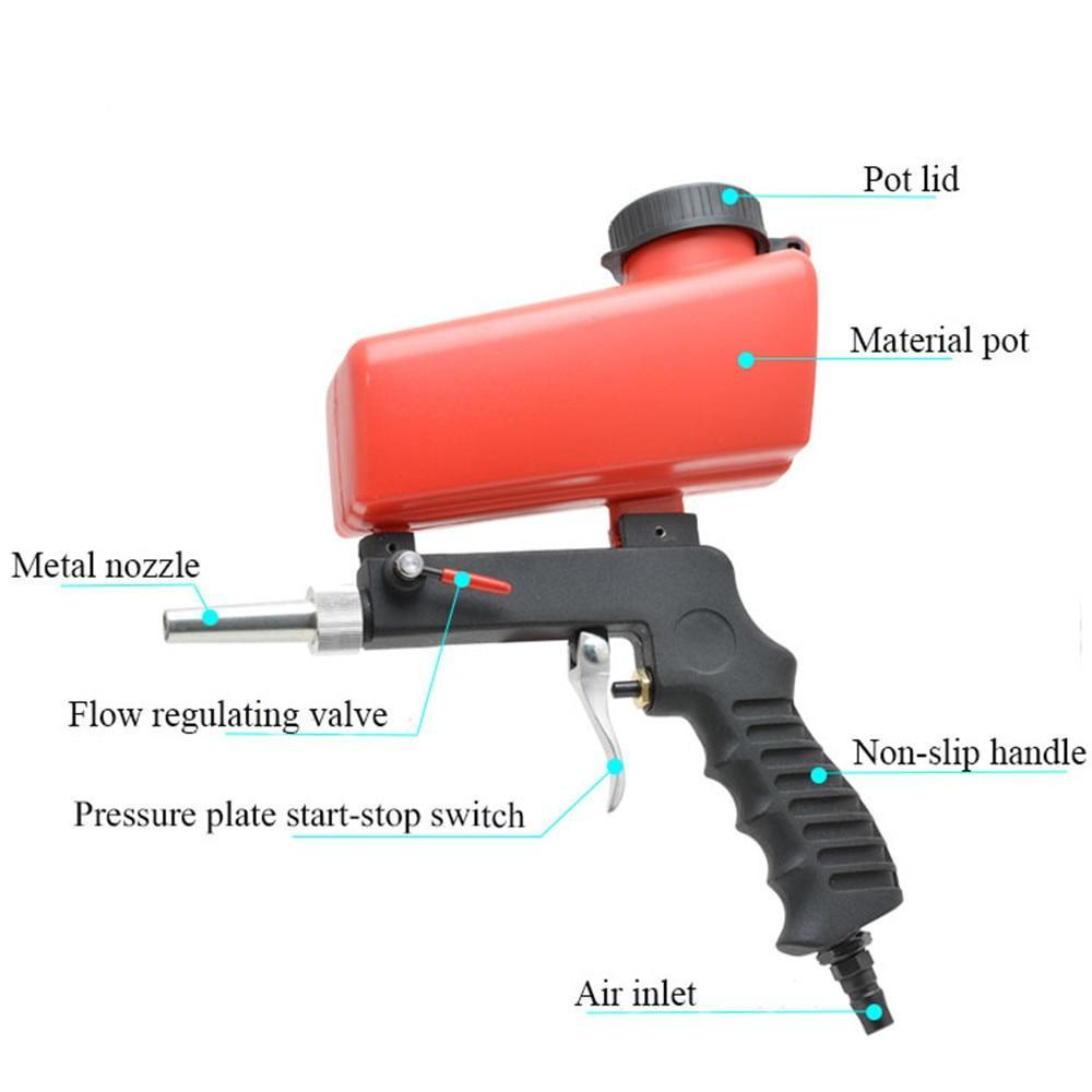 Portable Gravity Sandblaster For Machine Adjustable AmericanGalore