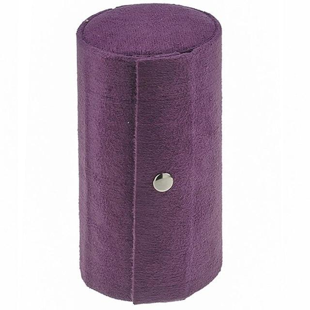 Roll-Up Jewelry Travel Case AmericanGalore Violet
