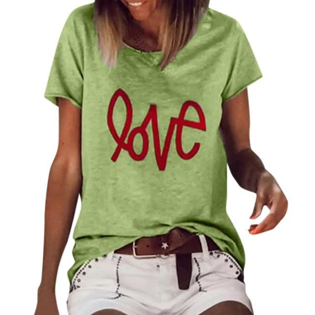 Short Sleeve Abstract Casual Shirts & Tops AmericanGalore Green S