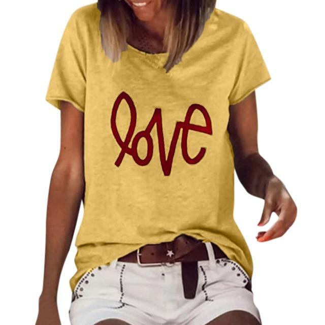 Short Sleeve Abstract Casual Shirts & Tops AmericanGalore Yellow S