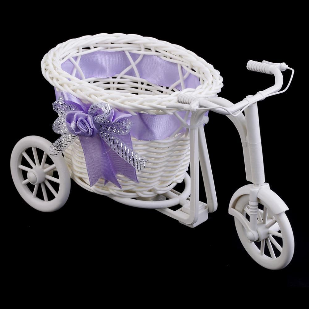 Tricycle Flower Baskets AmericanGalore Purple