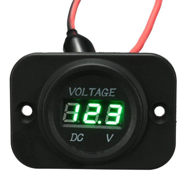 Voltage Meter Gauge For Car Motorcycle Boat Marine AmericanGalore Green