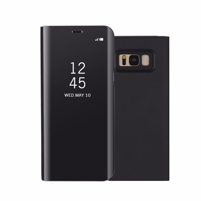 Xiaomi Mirror View Flip Phone Case AmericanGalore Black