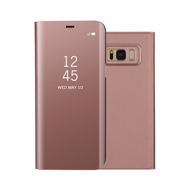Xiaomi Mirror View Flip Phone Case AmericanGalore Rose Gold