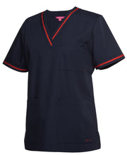 Load image into Gallery viewer, 4SCT1 LADIES CONTRAST SCRUBS TOP $39.00 (GST incl)
