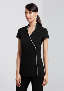 H134LS - Ladies Zen Crossover Tunic SALE $58 (GST incl)