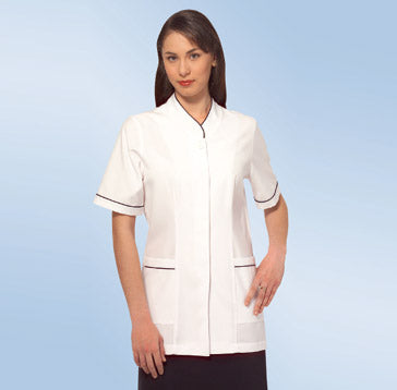 M926T – Medical Jacket with concealed buttons & trim