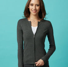 Load image into Gallery viewer, LC3505 – Ladies 2 way zip Cardigan $69.00 (GST incl)