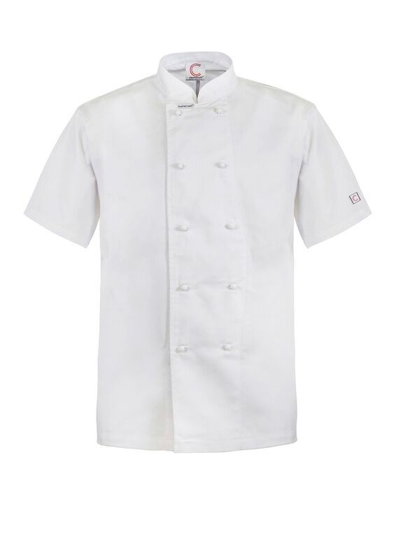 CJ033 - CLASSIC CHEFS JACKET - SHORT SLEEVE $43.00 (GST incl)