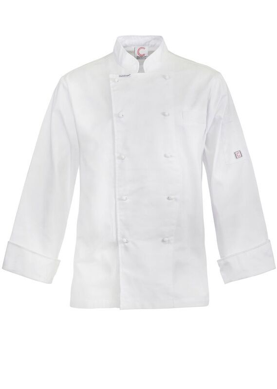 CJ048 - EXECUTIVE CHEFS LIGHTWEIGHT JACKET - LONG SLEEVE $37.00 (GST incl) SALE