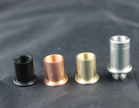 Z1BR Drip Tips Set (Black, SS, Copper, Brass) (Zenith v2 Drip Tip) Clones - G Vapers