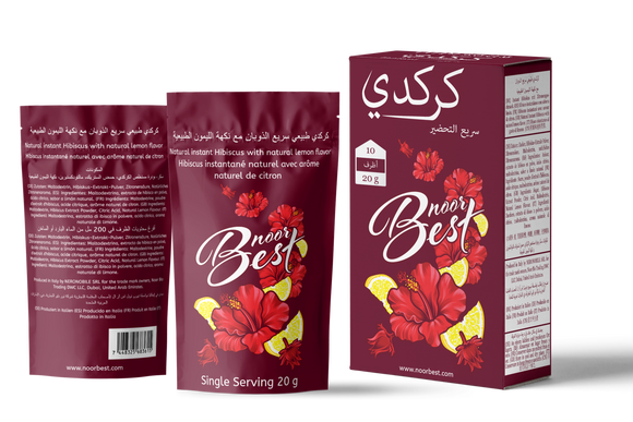 Natural Hibiscus Instant Tea