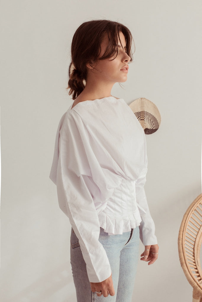 Georgie Blouse - White