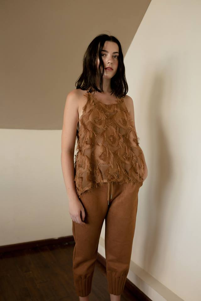 Feather Top - Brown