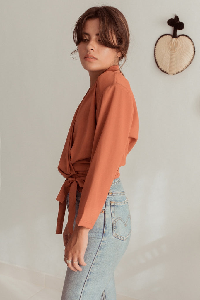 Wally Blouse Shoulder Pads - Tangerine
