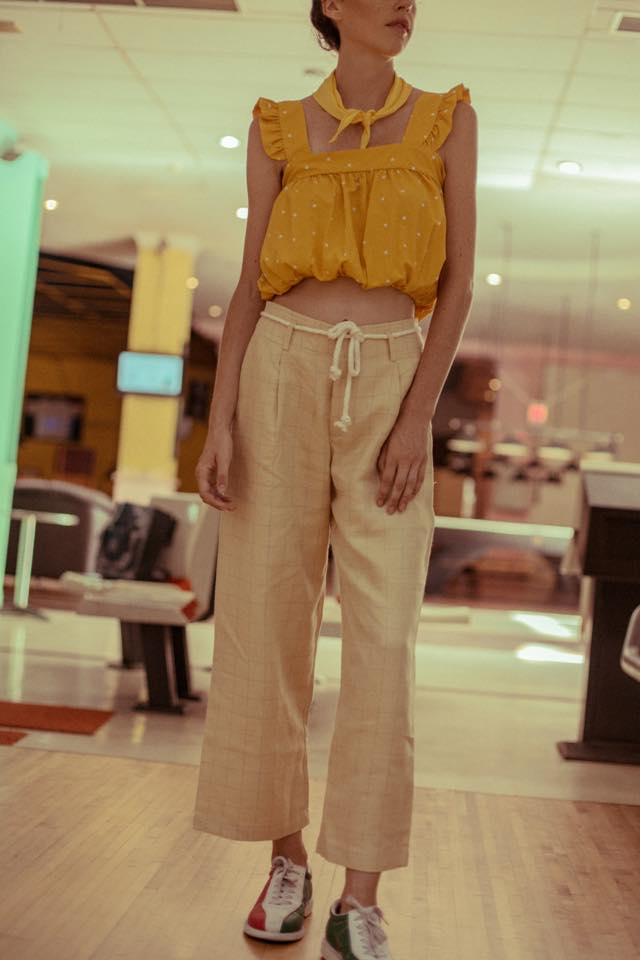 Linen Pants - Pastel Yellow
