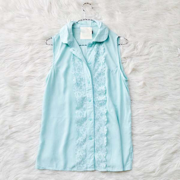 Kira Mint Lace Blouse