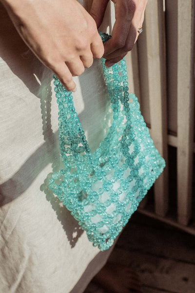 Beaded Bag - Turquoise