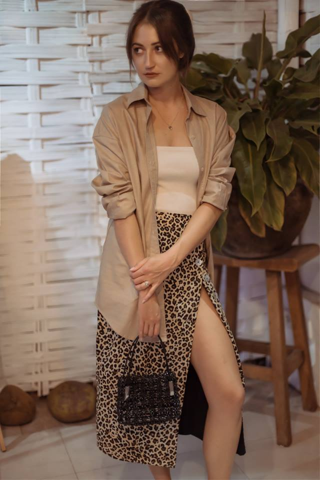 Umiko Button Skirt - Leopard