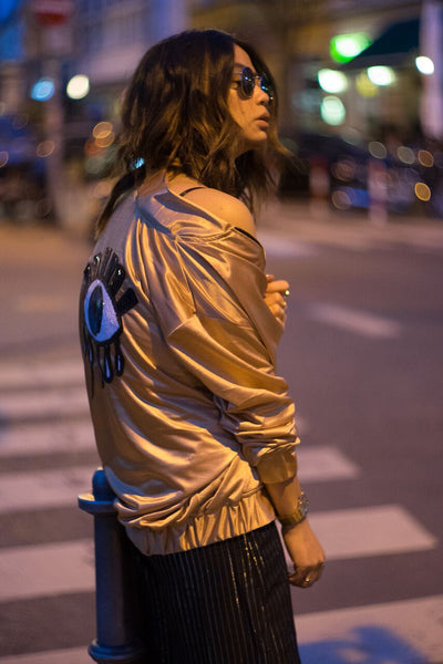 Eye See You Jacket - Gold