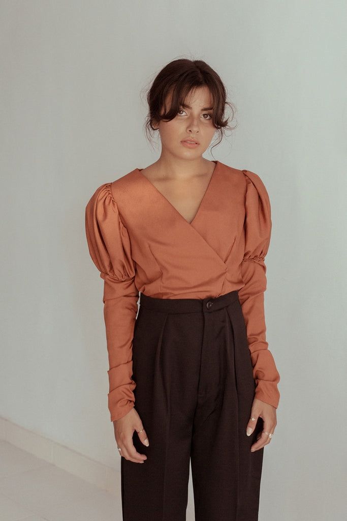 Edith Blouse - Tangerine