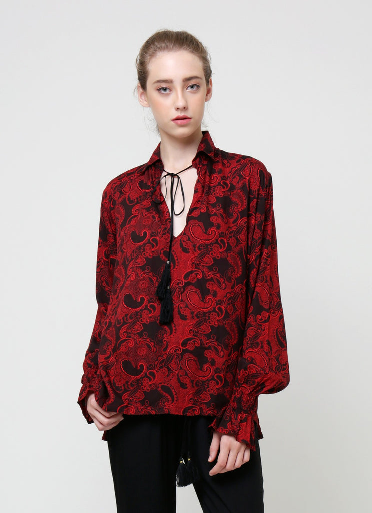 Ellie Blouse - Paisley Red