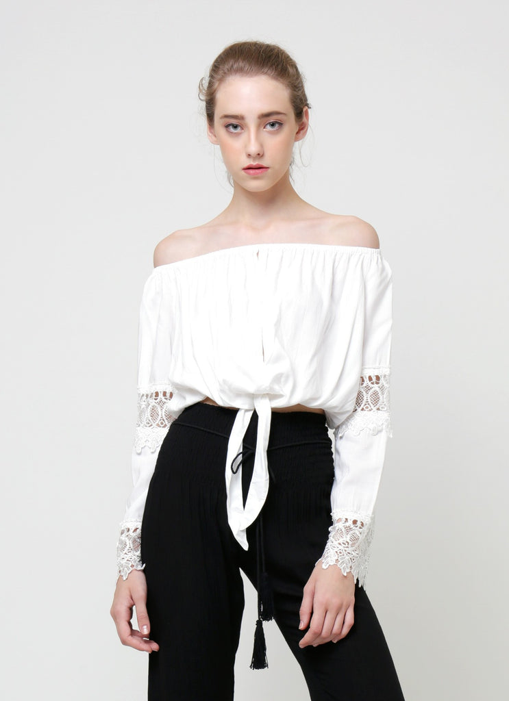 Milly Off Shoulder Top - White