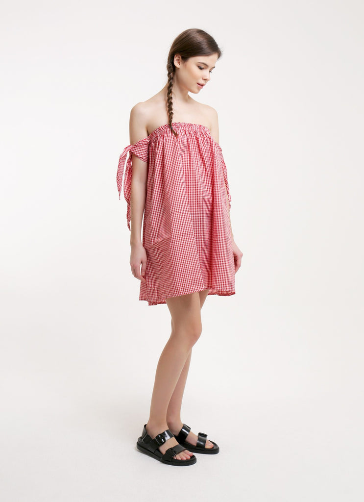 Kayla Dress - Gingham Red