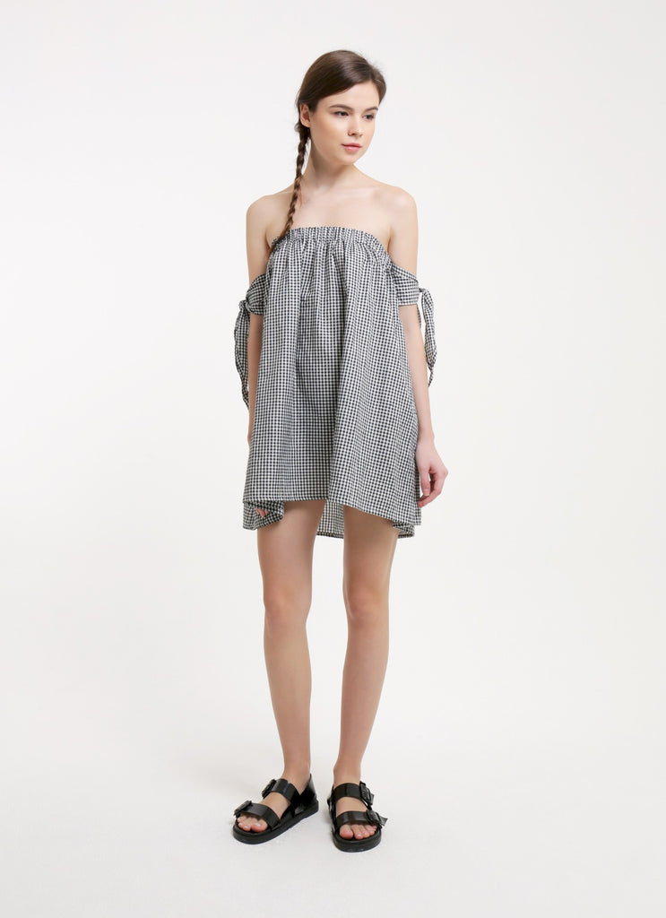 Kayla Dress - Gingham Black