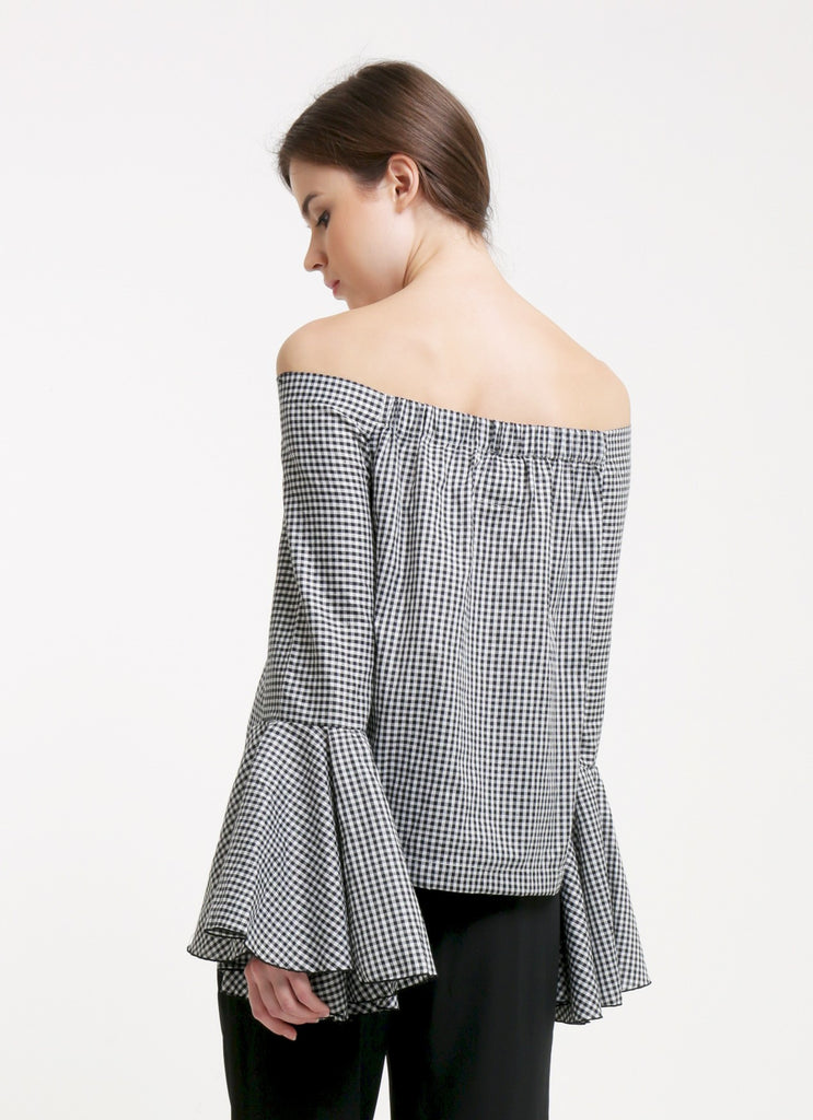 Avery Top - Gingham Black