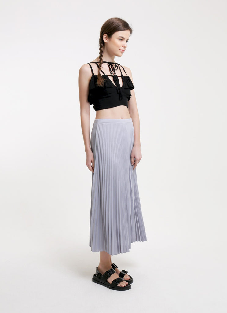 Pleated Skirt - Gray