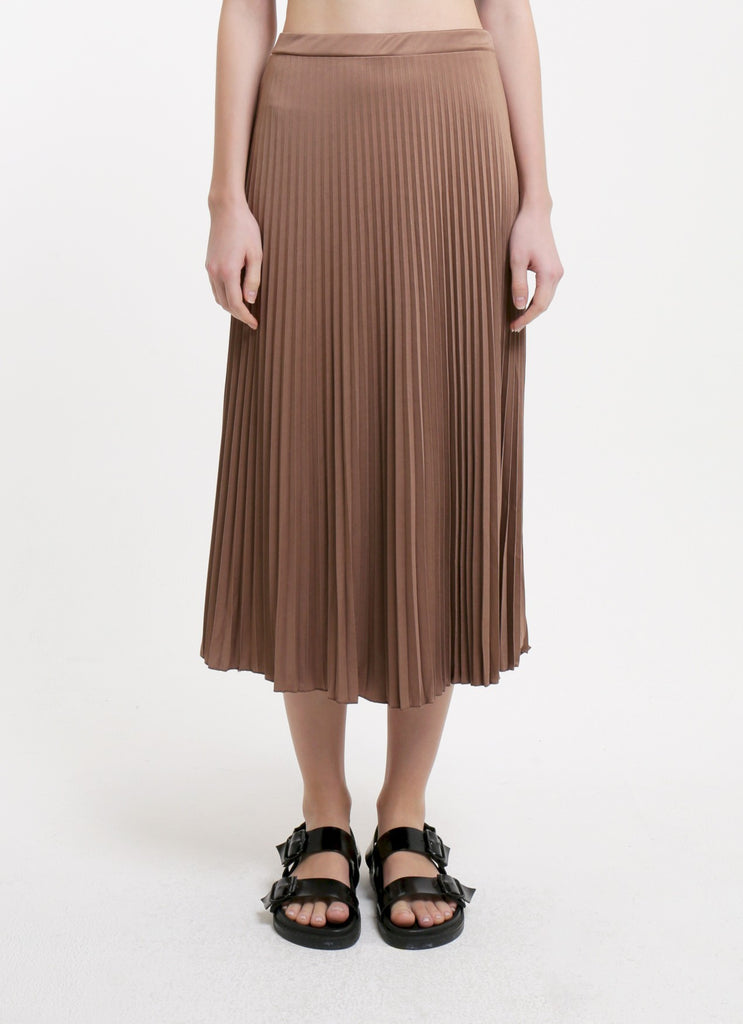 Pleated Skirt - Mocca