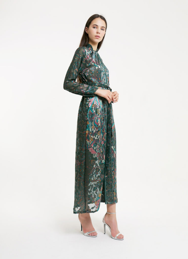 MARRAKECH KIMONO DRESS - GREEN
