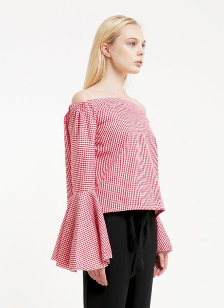 Avery Top - Gingham Red