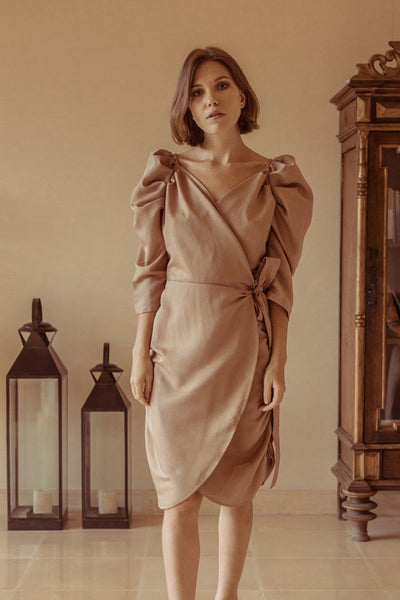 Iries Dress - Nude