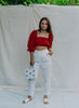 Lola Crop Top - Red