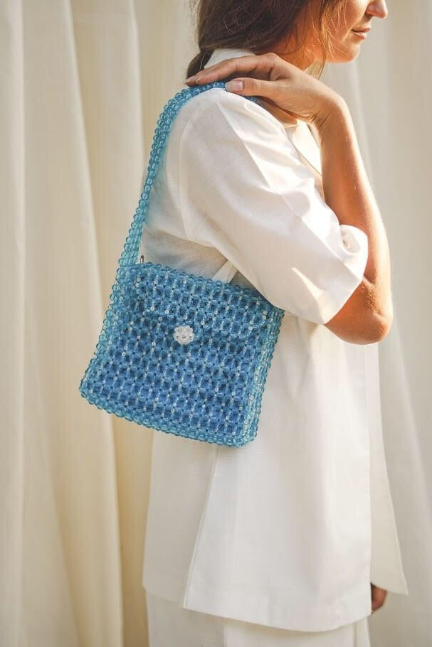Beaded Bag - Blue