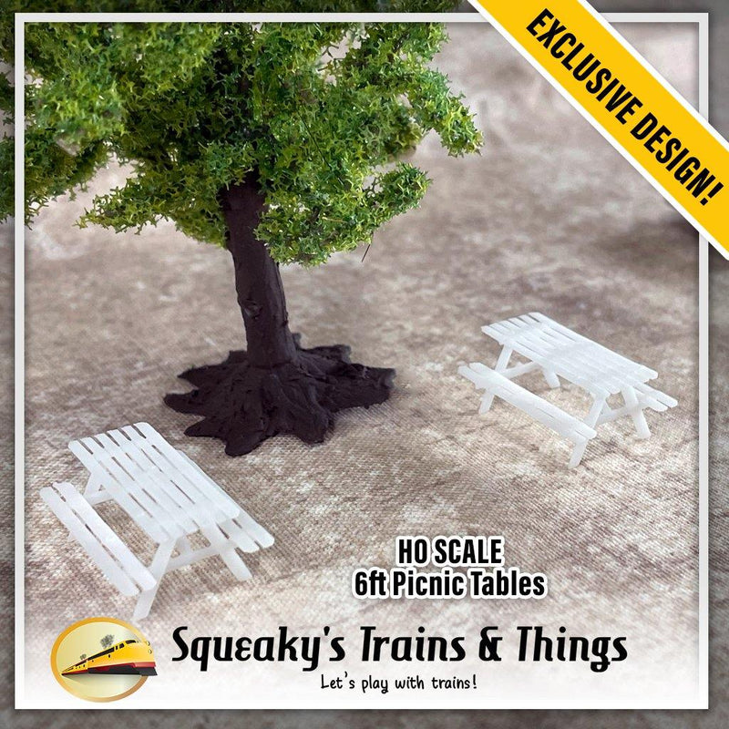 6ft Picnic Tables (4 Pack) | HO Scale - Squeaky's Trains & Things