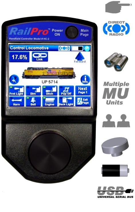 Ring Engineering HC-2-SUN (Outdoor Use) RailPro Wireless Handheld Controller with BRIGHT Color Touchscreen.
