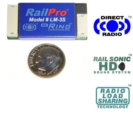 Ring Engineering LM-3S - RailPro HO Scale Locomotive Module with Sound.