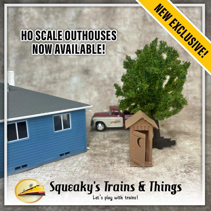 Outhouses | HO Scale | Painted / Unpainted