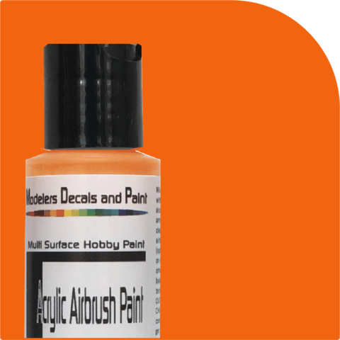 Reefer Orange Airbrush Paint - Squeaky's Trains & Things